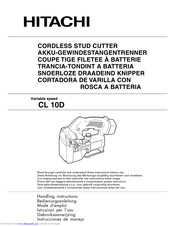Hitachi CL 10D Handling Instructions Manual