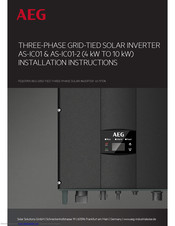 AEG AS-IC01-10000-2 Installation Instructions Manual