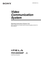 Sony Ipela PCS-G50P Operating Instructions Manual