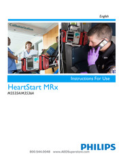 Philips HeartStart MRx M3535A Instructions For Use Manual