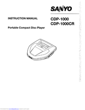 Sanyo CDP-1000 Instruction Manual