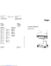 Dräger Incubator 8000 IC Instructions For Use Manual