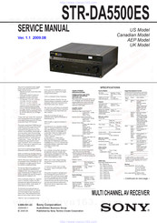 Sony Str Da5500es Manuals Manualslib
