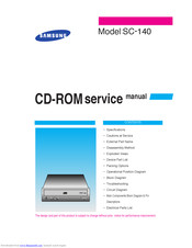 Samsung SC-140 Service Manual