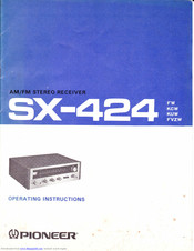 Pioneer SX-424 FVZW Operating Instructions Manual
