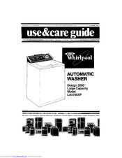 Whirlpool Design 2000 LA5700XP Use & Care Manual