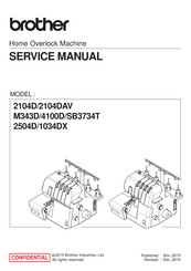 Brother 4100D Service Manual