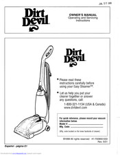 Dirt Devil Easy Steamer Owner S Manual Pdf Download Manualslib