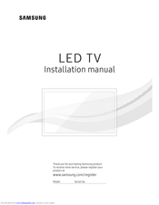 Samsung HG55NF690U Installation Manual