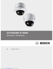 Bosch AUTODOME IP 4000i Installation Manual