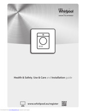 Whirlpool DDLX 70113 Health & Safety, Use & Care And Installation Manual