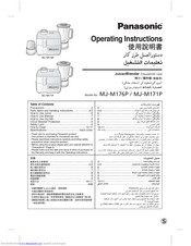 Panasonic MJ-M171P Operating Instructions Manual