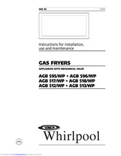 Whirlpool AGB 513/WP Instructions For Installation, Use And Maintenance Manual