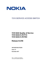 Nokia 7210 SAS-K 2F4T6C series Quality Of Service Manual