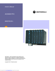 Motorola ACE3600 RTU Owner's Manual