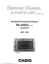 Casio PA-2400U Service Manual And Parts List