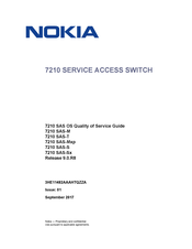 Nokia 7210 SAS-T CHASSIS Quality Of Service Manual