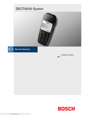 Bosch DECT6000 Installation Instructions Manual