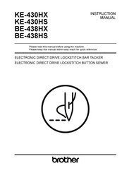 Brother KE-430HX Instruction Manual