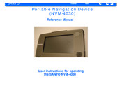 Sanyo NVM-4030 - Easy Street - Automotive GPS Receiver User Instructions For Operating