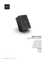 Bose S1 Pro Manuals Manualslib