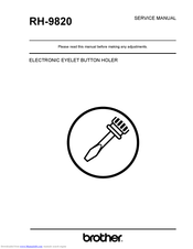 Brother RH-9820 Service Manual
