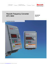 Bosch Rexroth EFC 3600 Operating Instructions Manual