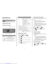Toshiba es525p Quick Reference
