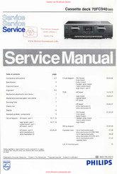 Philips 70FC940 Service Manual