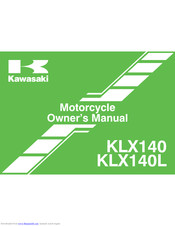 Kawasaki KLX 140L - BROCHURE 2010 Owner's Manual