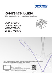 Brother MFC-B7700D Reference Manual