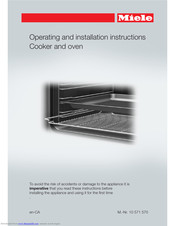 Miele H2265B Operating And Installation Instructions