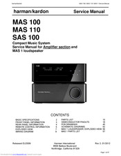 Harman Kardon MAS 110 Service Manual
