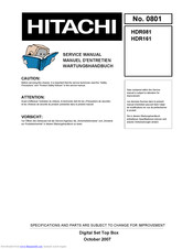 Hitachi HDR081 Service Manual
