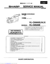 Sharp VL-C8000H Service Manual