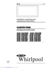 Whirlpool AGB 416/WP Installation, Operating And Maintenance Instructions