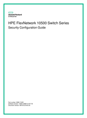 HP 10500 series Security Configuration Manual