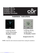 cor wifi thermostat wiring diagram cor thermostat 5 installation instructions manual pdf download  cor thermostat 5 installation