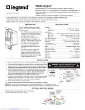 LEGRAND WATTSTOPPER PW-311 INSTALLATION INSTRUCTIONS MANUAL ... on data sheet pdf, plumbing diagram pdf, power pdf, body diagram pdf, welding diagram pdf, battery diagram pdf,