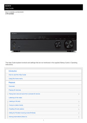 Sony STR-DH590 Help Manual