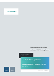 SIEMENS GH180 OPERATING INSTRUCTIONS MANUAL Pdf Download