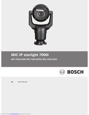 Bosch MIC IP starlight 7000i User Manual
