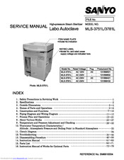 Sanyo MLS-3781L Service Manual
