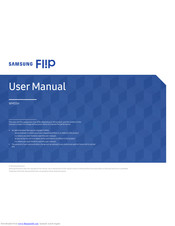 Samsung Flip WM55H User Manual
