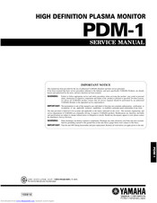 Yamaha PDM-1 Service Manual