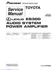 Pioneer GM-8637ZT/UC Service Manual
