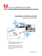 Canon imagePRESS A3200 Installation And Service Manual