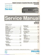 Philips 70DCC600/008 Service Manual