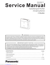 Panasonic F-PXL45H Service Manual