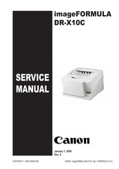 Canon DR-X10C - imageFORMULA - Document Scanner Service Manual